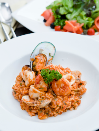 Tomato and Seafood Risotto