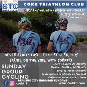 Sunday cycle 27th Jan – Cork Triathlon Club