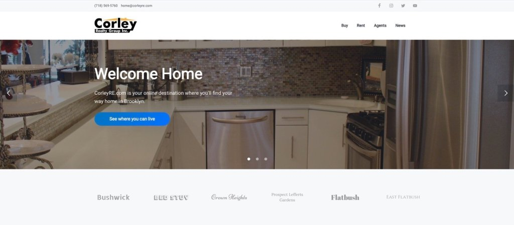 new corleyre dot com invites buyers and renters to discover