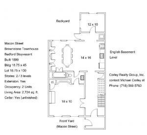 basement floor plan at 631 macon st crg1104
