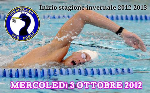 Inizia la stagione in piscina 2012-2013 del Cormorano