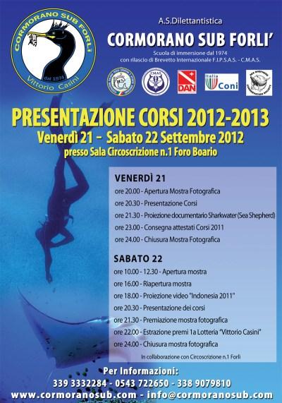 Locandina presentazione corsi sub Forlì 2012-2013