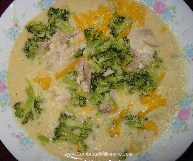Broccoli Cheese Soup with Chicken
