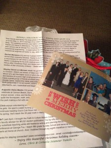 Christmas letter and photo -new photo