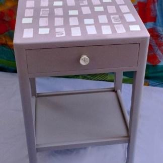 upcycled vintage bedside table