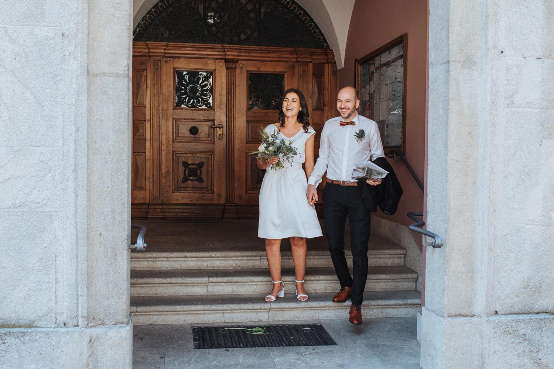 Frisch vermählt Brautpaar Lenzburg