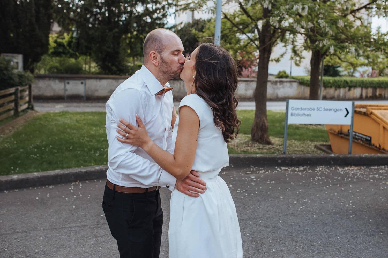 Kuss Hochzeit
