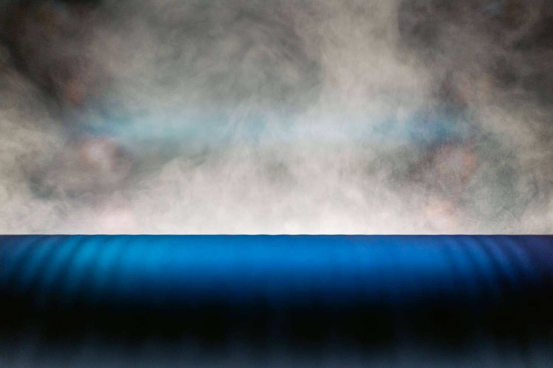 Textilien Walze Dampf Detail
