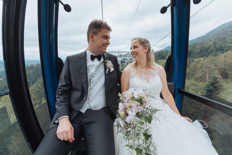 Hochzeit Weissenstein Brautpaar Gondel