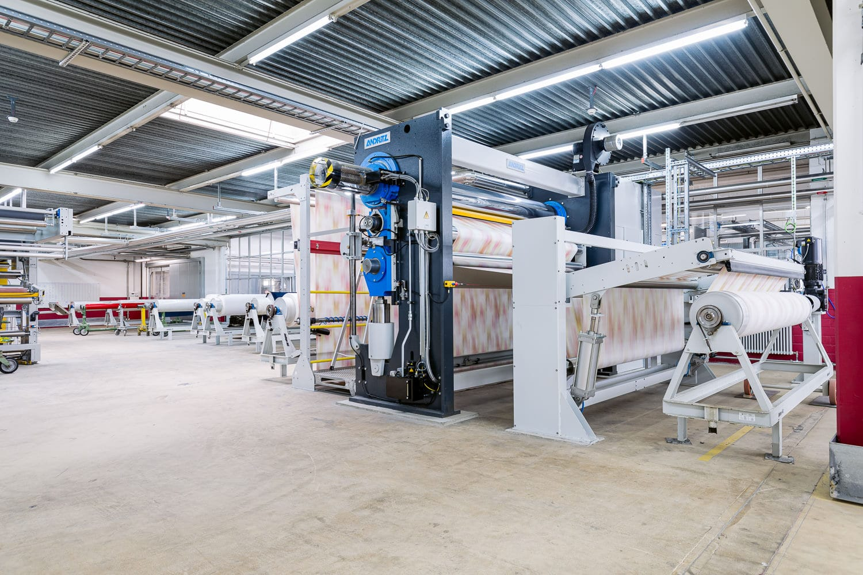 Unternehmen Maschinen Textilien Weitwinkel