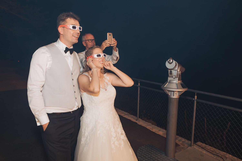 Feuerwerk Effekt Brautpaar