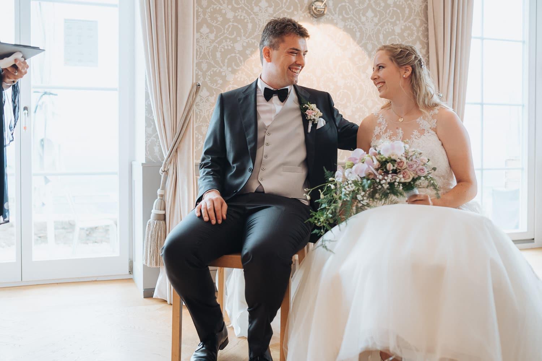 Brautpaar Trausaal Blick