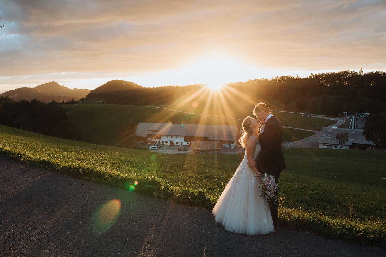 Paarfotos Sonnenuntergang Weissenstein