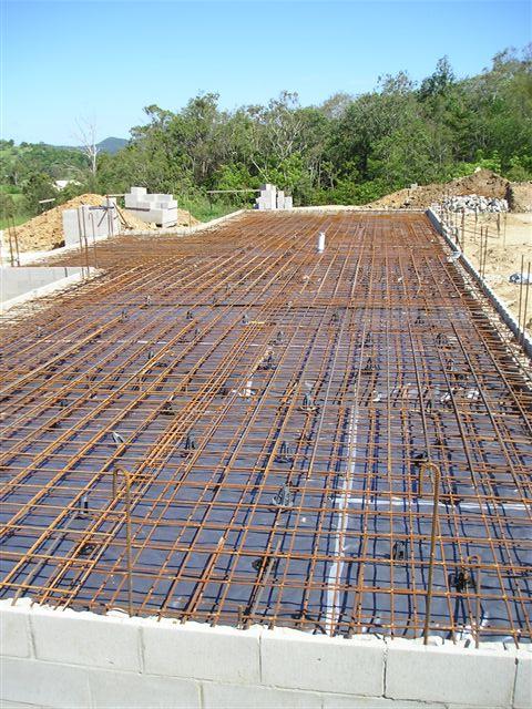 Concrete Masonry Besser Block Walls around a new slab on ground