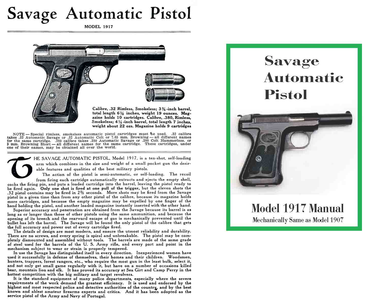 Cornell Publications Savage M Automatic Pistol