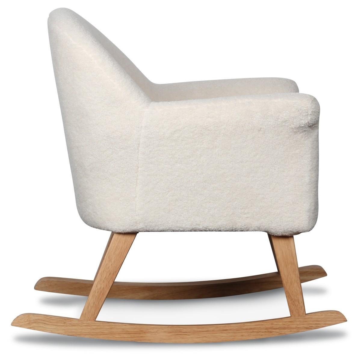 fauteuil a bascule pour enfant mini manon doudou couleur blanc ma