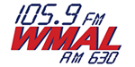 105.9 FM WMAL logo