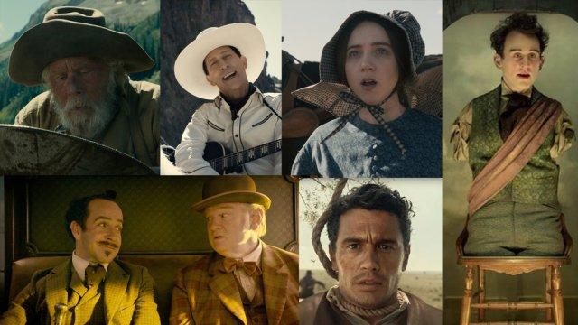 Fotocollage van de zes episodes uit de film
