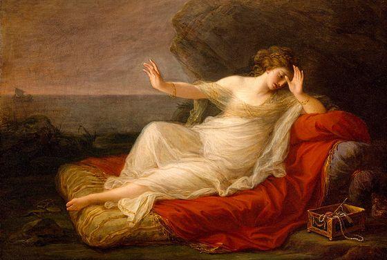 Ariadne, verlaten door Theseus - Angelica Kauffman, 1774.