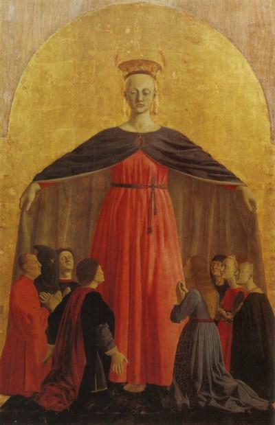 Piero della francesca, 'Madonna della misericordia', 180 cm, 1460–1462.