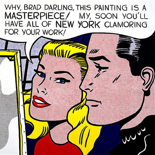 "Roy Liechtenstein, ""Masterpiece"", 1962."