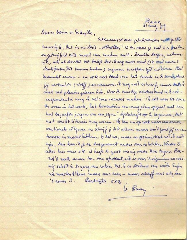 facsimile van brief 21
