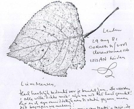Facsimile (fragment) van brief