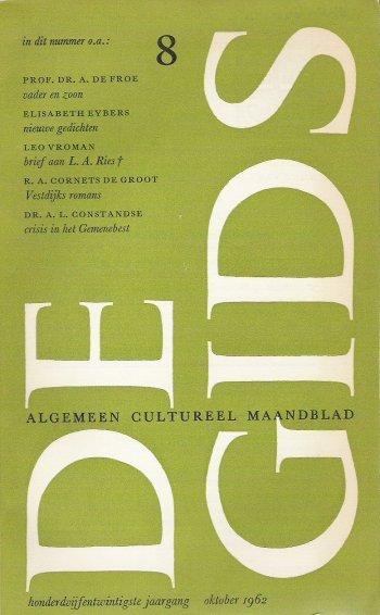 Omslag van het Gids-nummer met het debuut van Cornets de Groot.