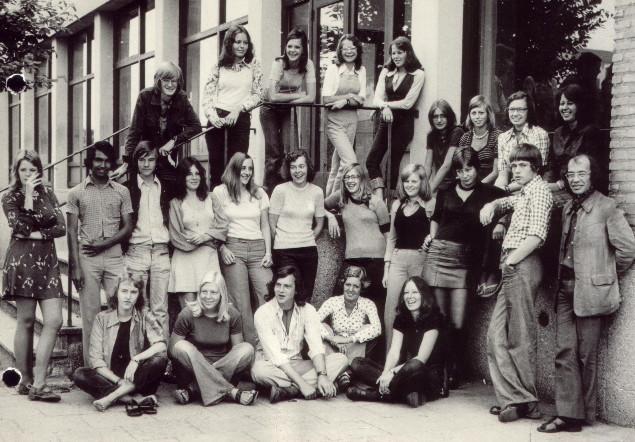 Klassenfoto LMC, Havo 5d, 1974-1975.