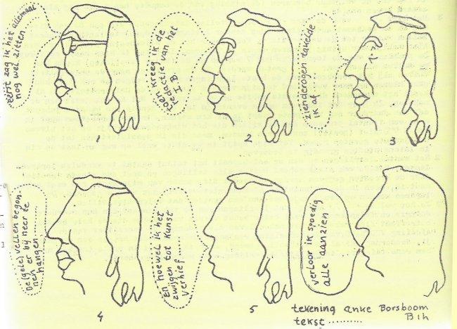 Cornets de Groot geportretteerd in dit nummer van het Informatief Bulletin (de 'Gele Vellen').