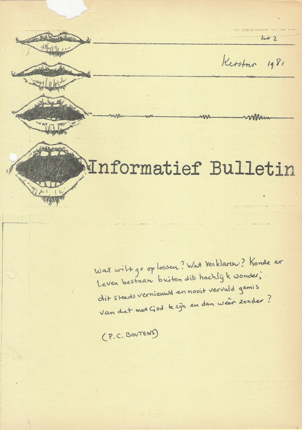 Gedicht van Boutens in handschrift van Cornets de Groot