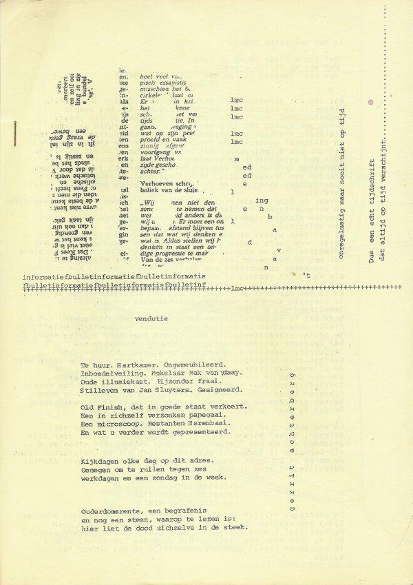 Gedicht 'vendutie' van Gerrit Achterberg