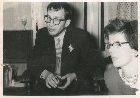 Met Willy bij het huwelijk van Willy's zus Anke op 15 december 1959.