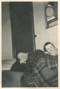 """Met Andrea, november 1960. """"Ru is ziek"""""""