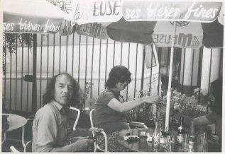 "Vakantie in de Dordogne, Frankrijk, juli 1974. ""Terras te Bergerac"""
