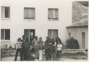 """Op vakantie in de Dordogne. """"26-7-'74. We nemen afscheid!"""""""