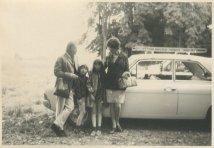"""Vakantie 3 juli - 22 juli 1969, Grimbergen, België. """"Dit jaar reden we in auto met imperial!"""""""