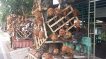 Uitspanning van Bataks, voormalige koppensnellers…