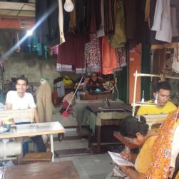 Kleermakerswijkje in Bangko.
