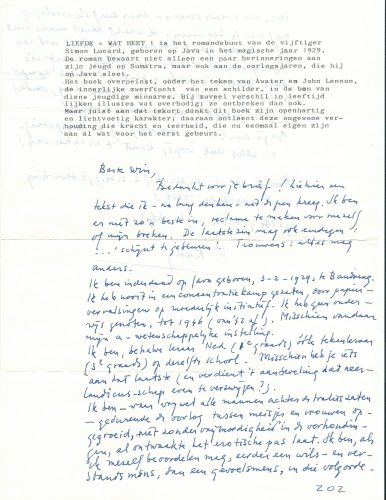 Voorkant van brief aan Hazeu