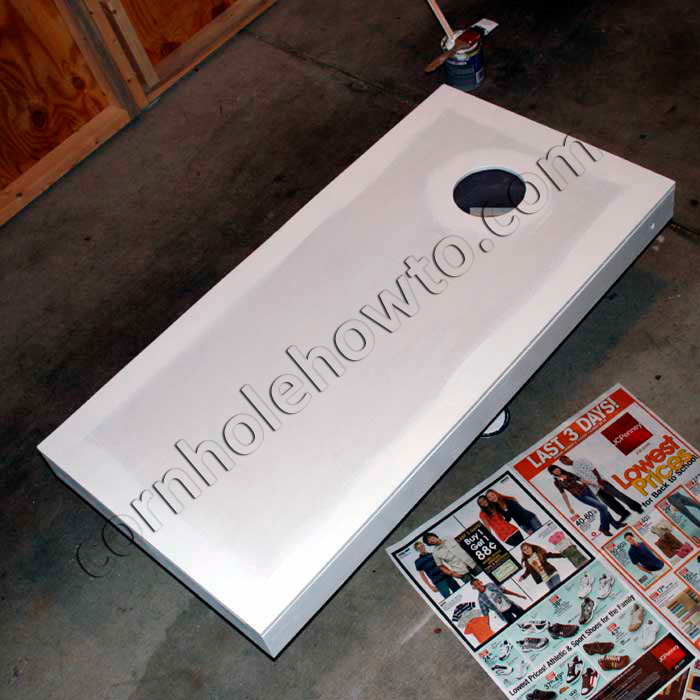 How to paint cornhole how to painting the edges white solutioingenieria Images