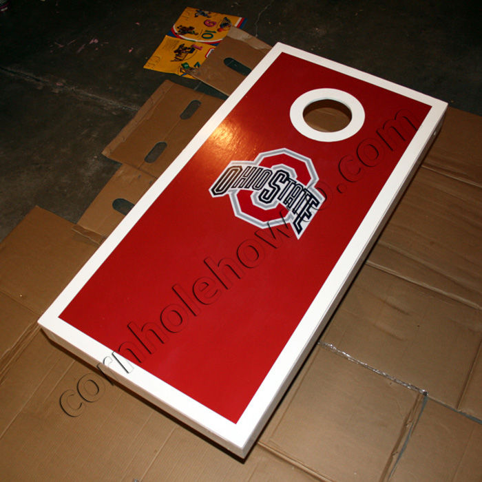 How to paint cornhole how to cornhole table with decal solutioingenieria Images