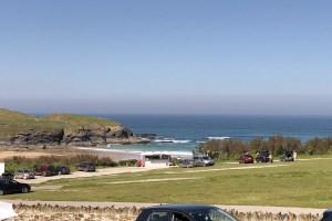 Pendarves Ocean Blue holiday apartment views