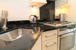 Pendarves Ocean Blue holiday apartment kitchen
