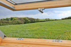 Choca holiday cottage Harlyn Cornwall skylight