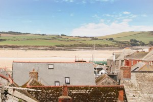 character holiday cottage in Padstow view of estuary