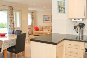 Sandpiper holiday home open plan living
