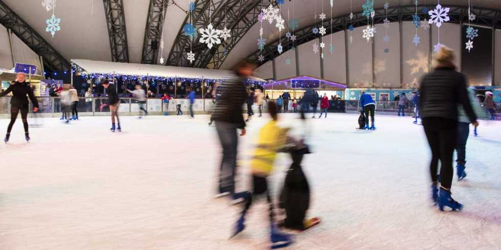 Ice Skating At The Eden Project