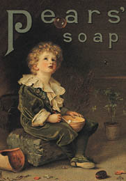 Pears´ soap ad, based on Millais