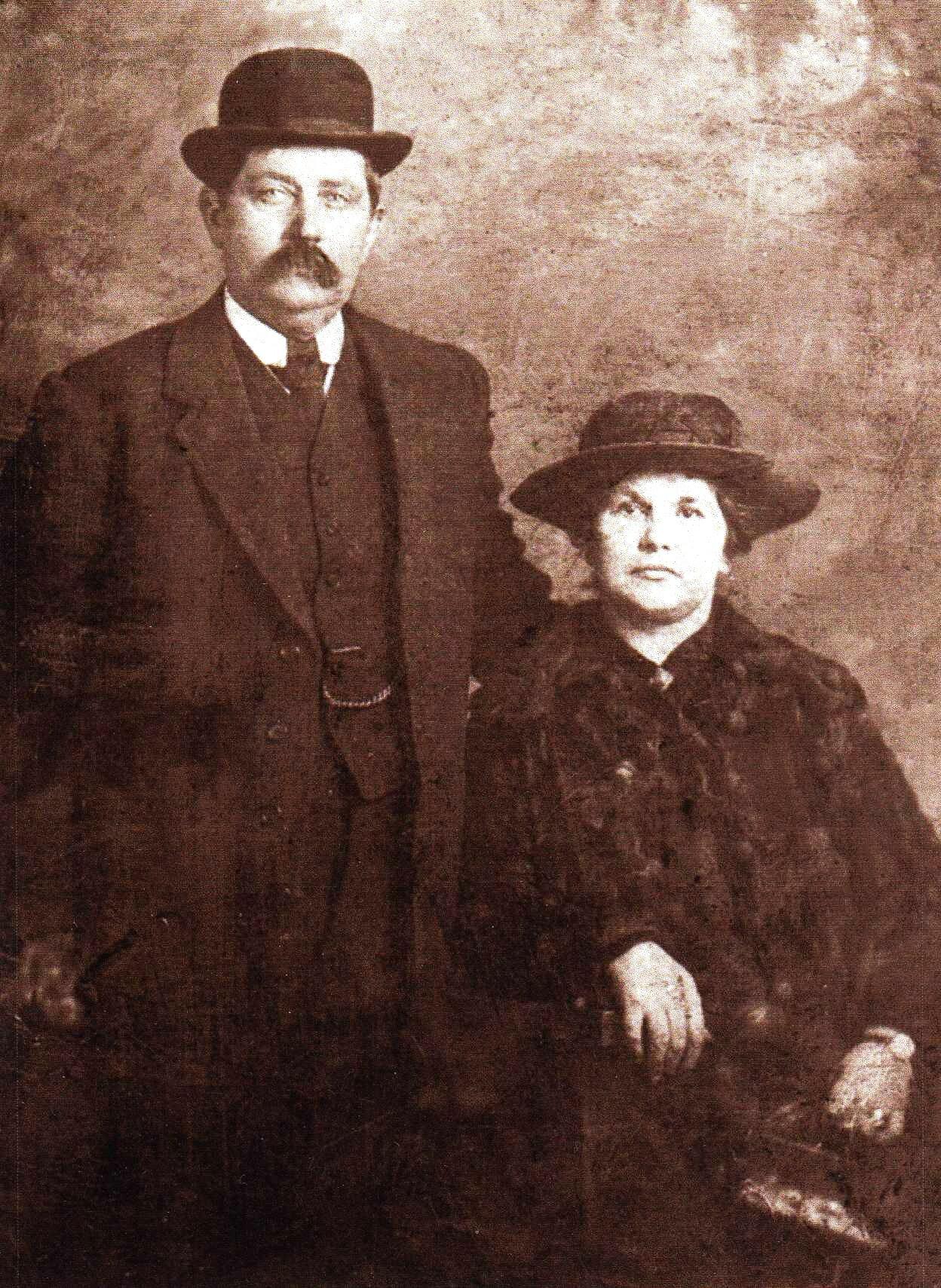 Figure 5. William Martin Devereux and Emma Maria Woodrow Devereux, nee Pengelly, my maternal grandparents. c. 1910.